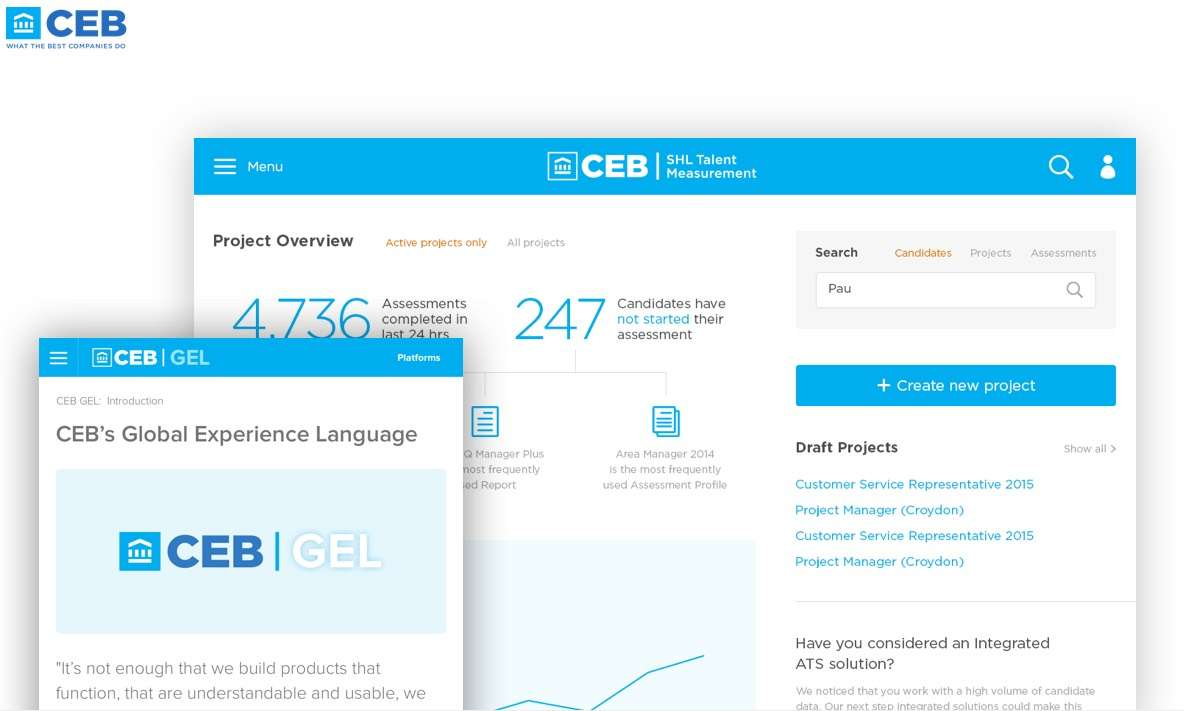 UI Design Agency for Corporate Executive Board