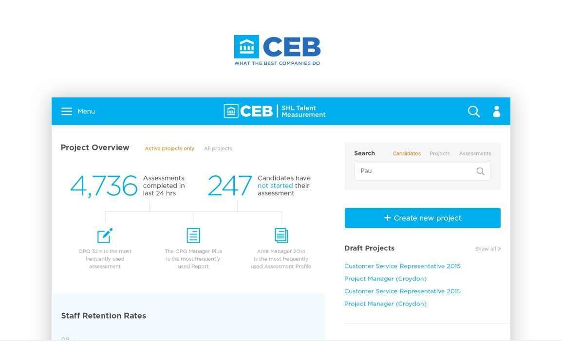 CEB & SHL Service Design Consultancy