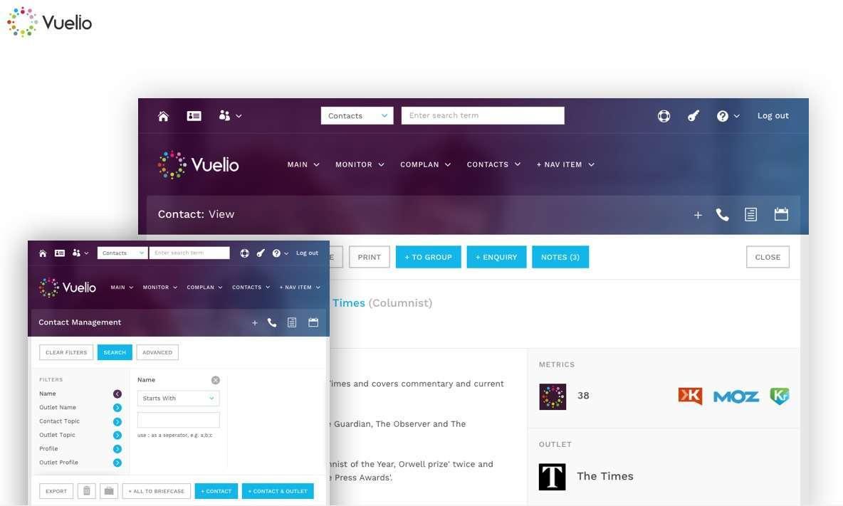 UX & UI design agency for Vuelio