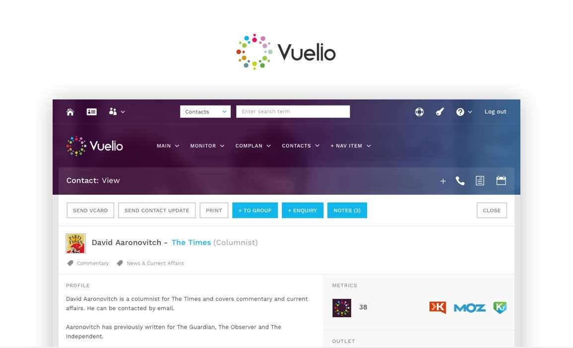 UI Design agency for Vuelio London